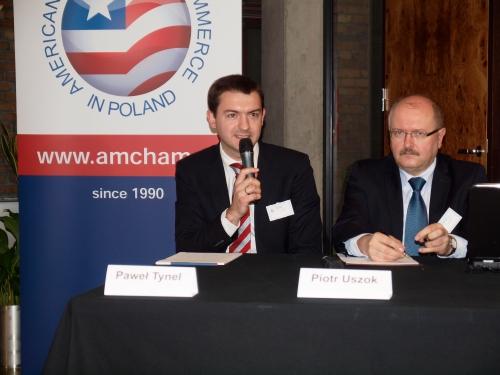 Paweł Tynel, Ernst & Young and Piotr Uszok, Mayor of Katowice